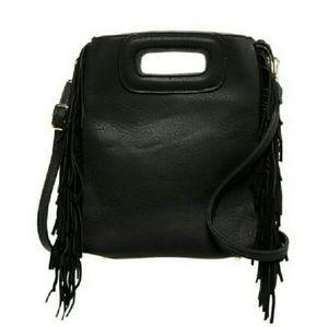 Pink Haley Black Fringe Handbag